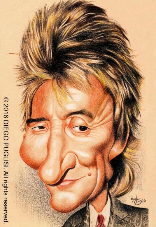 Resultado de imagen para Rod Stewart imagenes en caricatura
