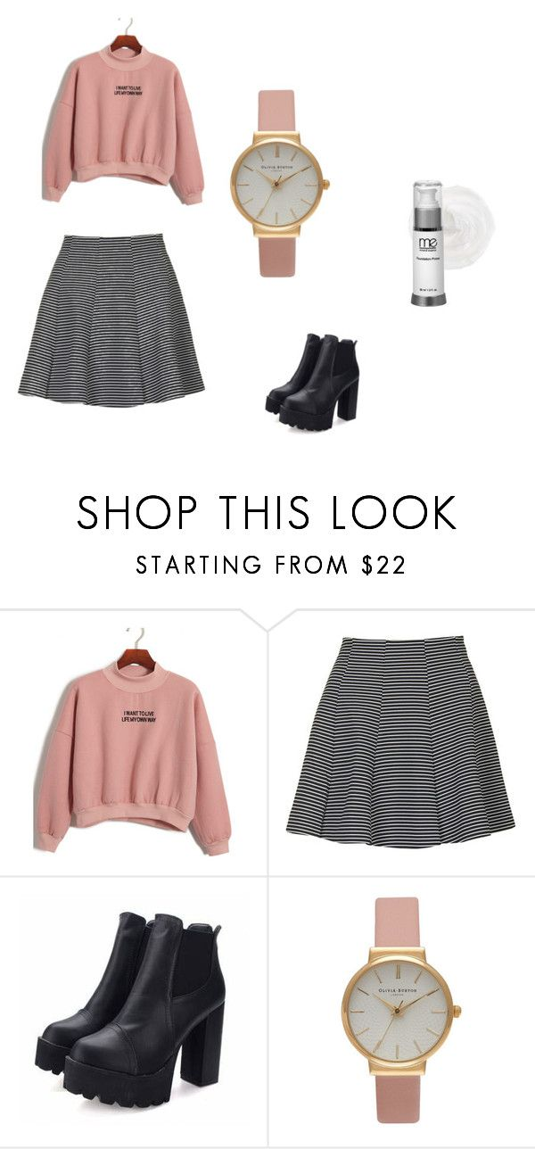 """""""Taehyung"""" by taejin-seokhyung ❤ liked on Polyvore featuring Chicnova Fashion, Topshop, Olivia Burton and Mineral Essence"""