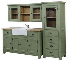 sideboard für waschbecken landhausstil landhaus küche shabby chic ... - Küche Shabby Chic