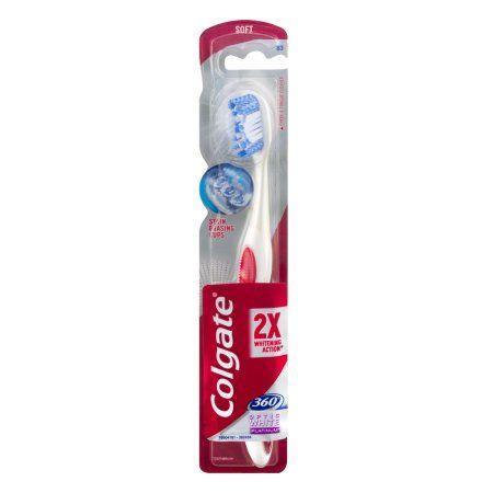 Colgate 360 Optic White Platinum Toothbrush Soft, 1.0 CT