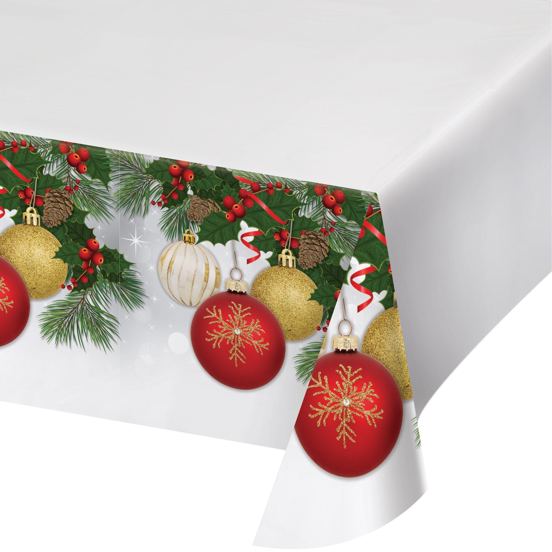 Ornament Elegance 54 X 102 Plastic Tablecover,