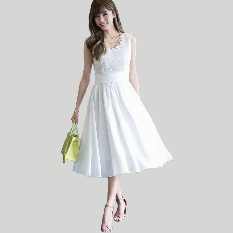 f8c1fae80a8f1 New Summer Dresses 2018 Women V Neck Long Chiffon Dress Womens ...