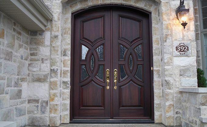 Front Door In Wooden Bourassa Wood Front Entry Doors Entry Doors Main Entrance Door Design