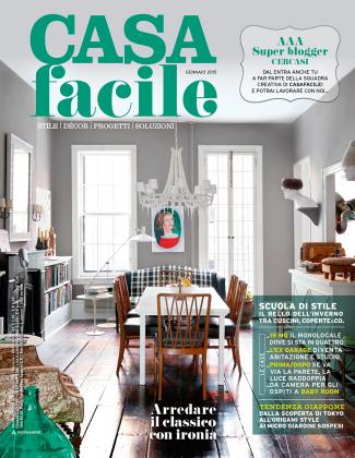 Cover / CasaFacile Gennaio / 2015- Cover and editorial #living #homemagazine #issue #designmagazine  by Giorgia Bimbatti