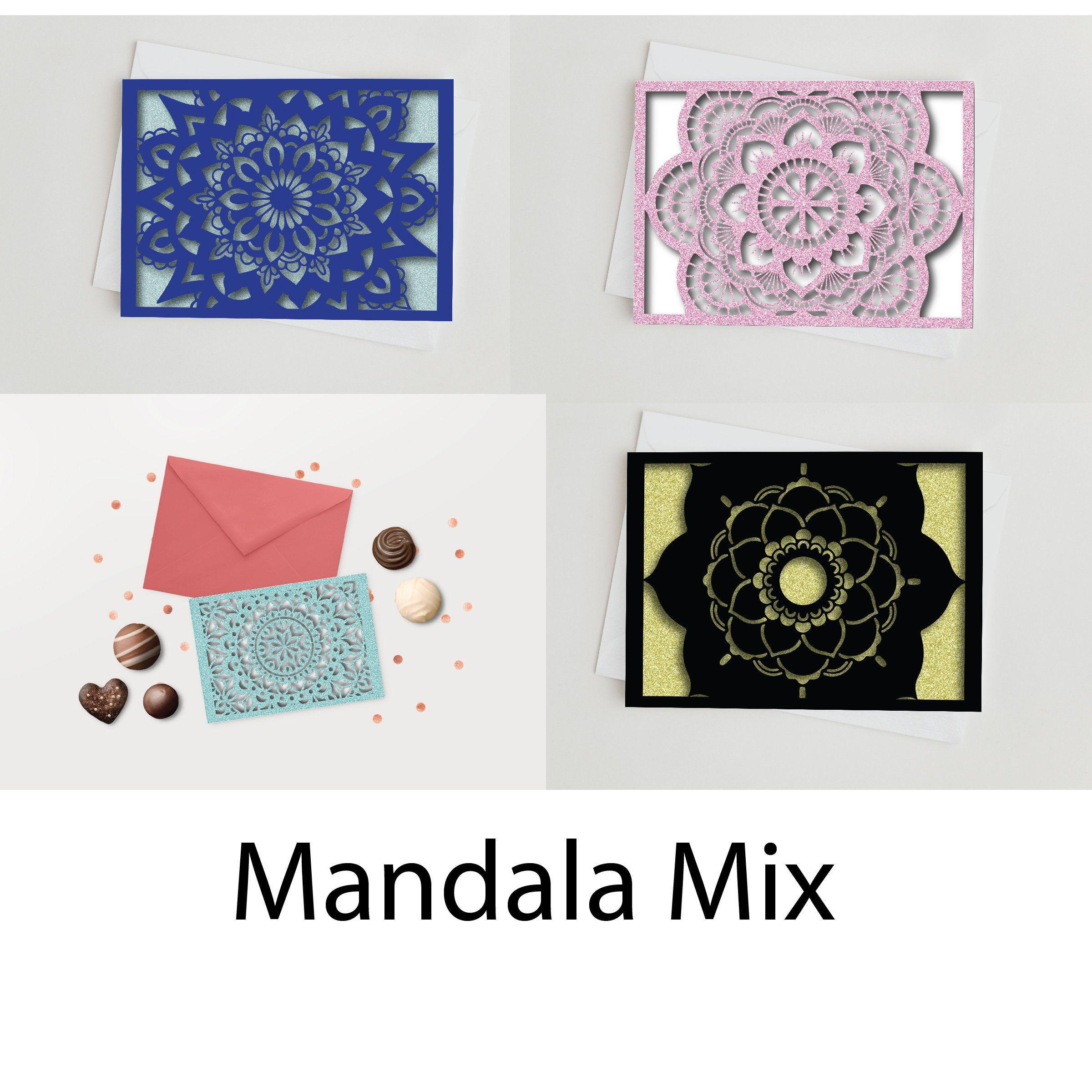 Mandala Card Bundle  Diy Art  Paper Cut File