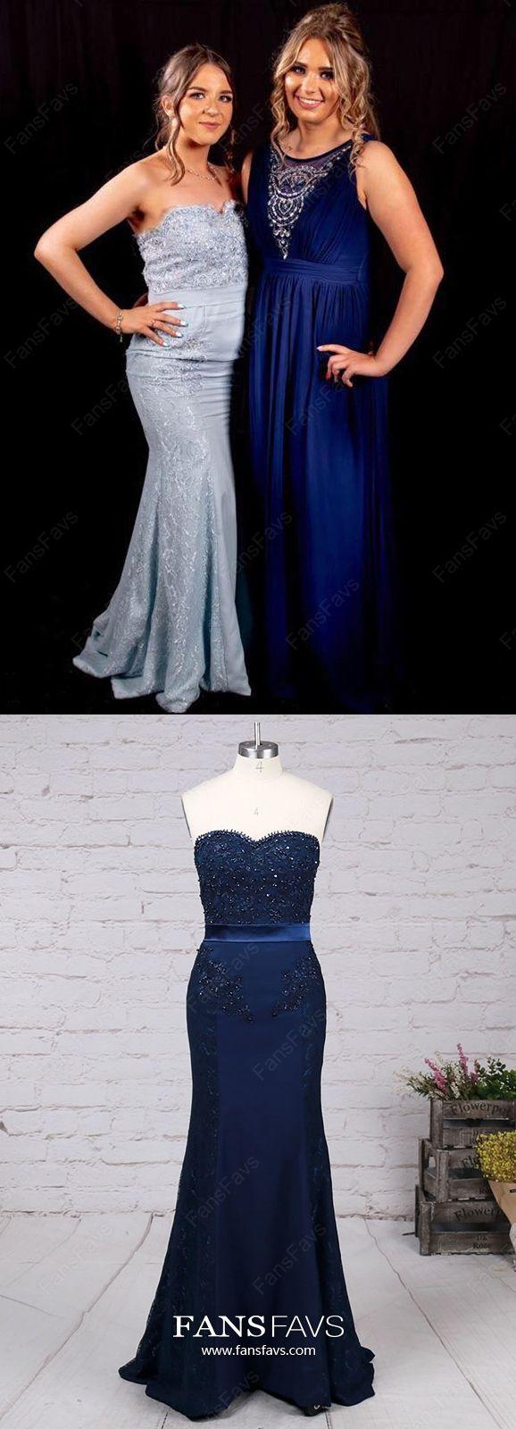 Long prom dresses sky blue mermaid prom dresses sweetheart lace