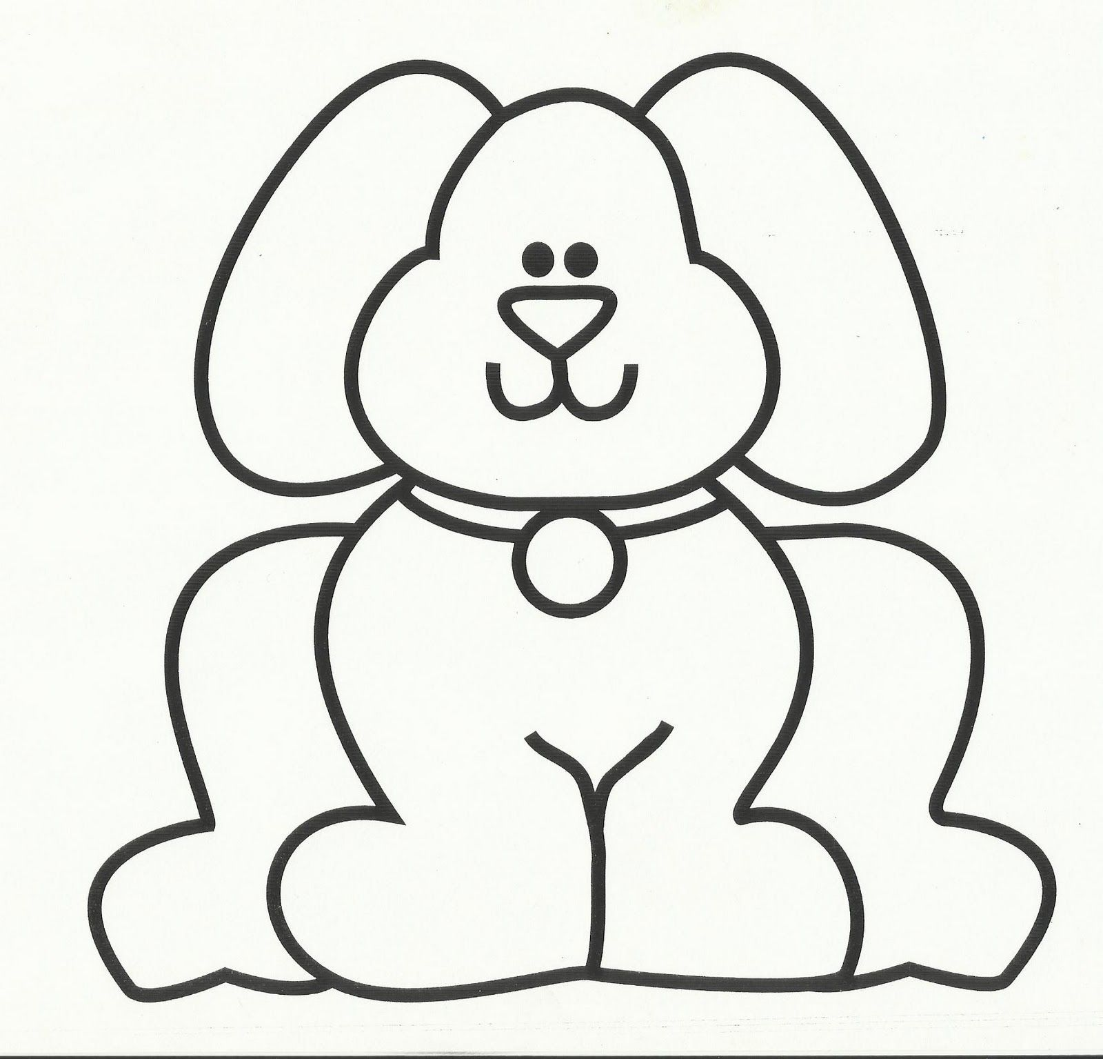 dog bone template printable   Cachorros   Pinterest   Primary music ...