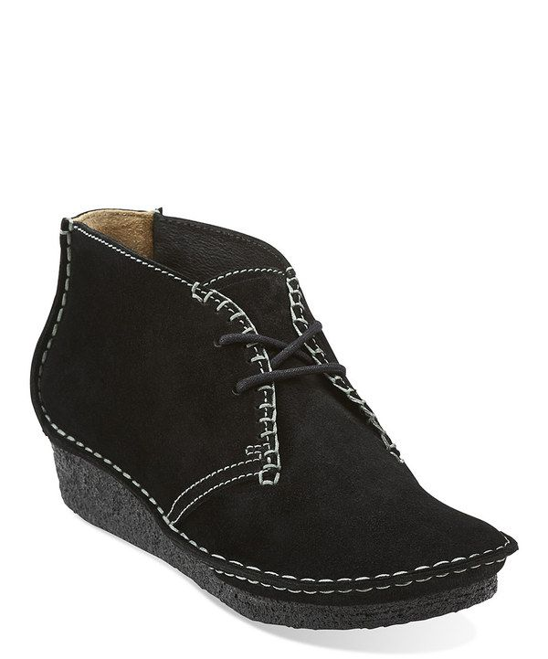 Look at this #zulilyfind! Black Suede Faraway Canyon Ankle Boot by Clarks #zulilyfinds