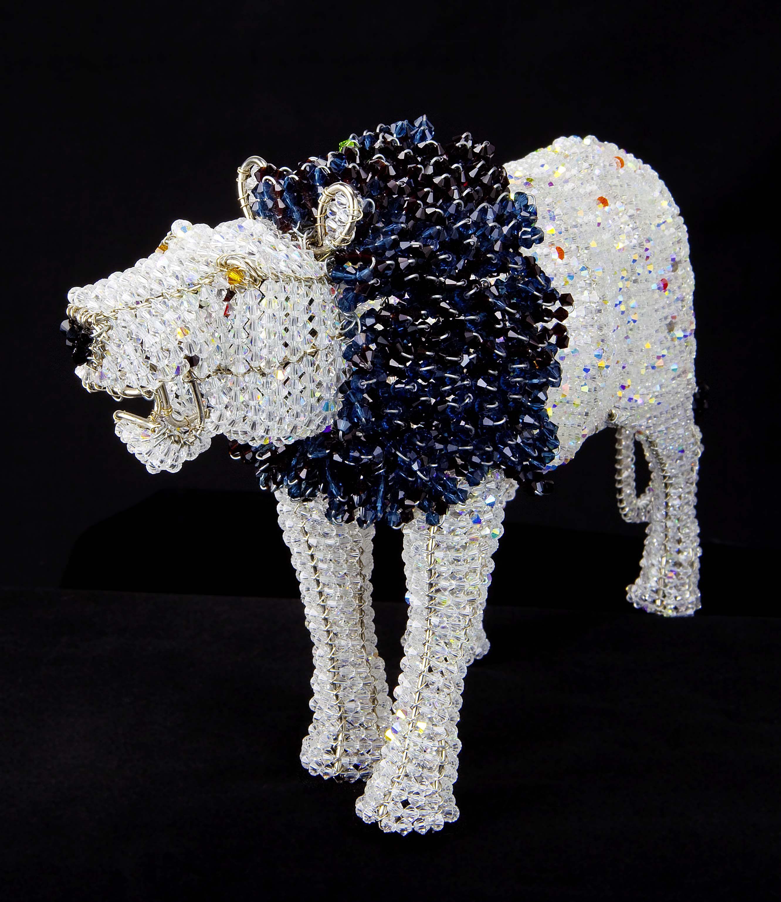 African craft work. Crystal Lion | Beadwork | Pinterest | African ...
