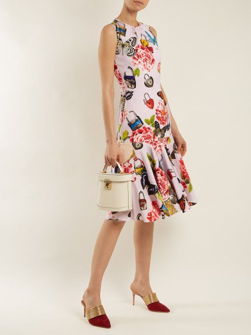 Butterfly and padlock-print stretch-silk dress Dolce & Gabbana Buy Online Cheap Price Perfect Cheap Online Nicekicks Cheap Online Free Shipping Cheap Quality Free Shipping Brand New Unisex ms6h2hAJ