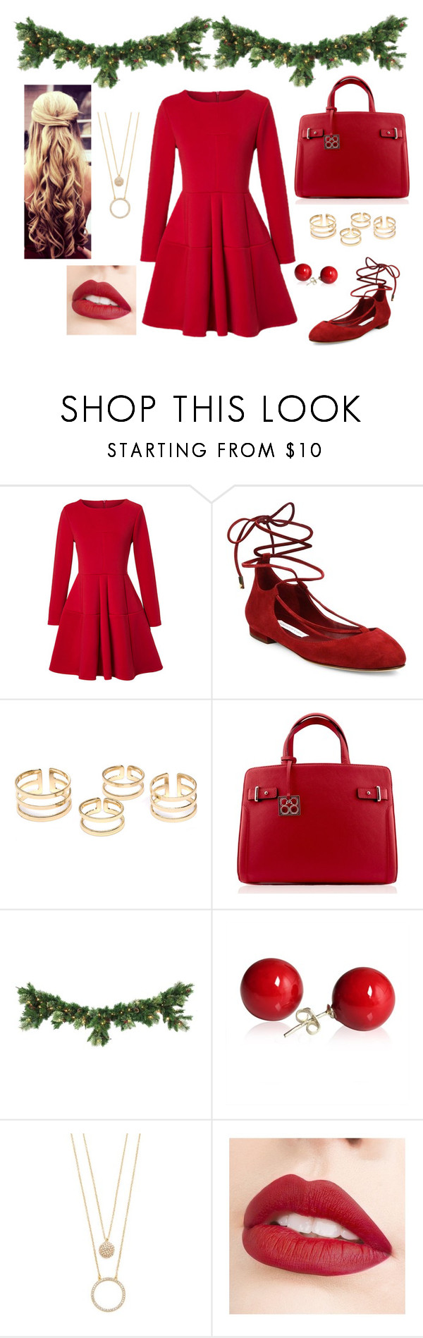 """Christmas Cheer"" by eightyeight-88 ❤ liked on Polyvore featuring WithChic, Diane Von Furstenberg, Kate Spade and Jouer"