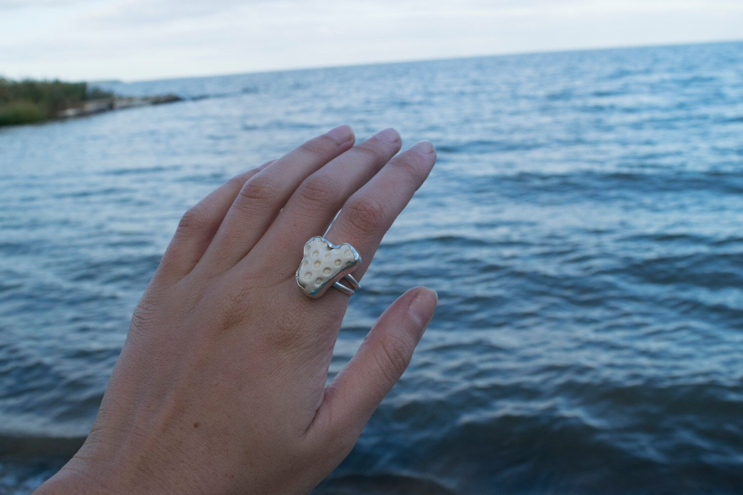 A personal favorite from my Etsy shop https://www.etsy.com/listing/484172275/underwater-daydreams-ring-coral-and