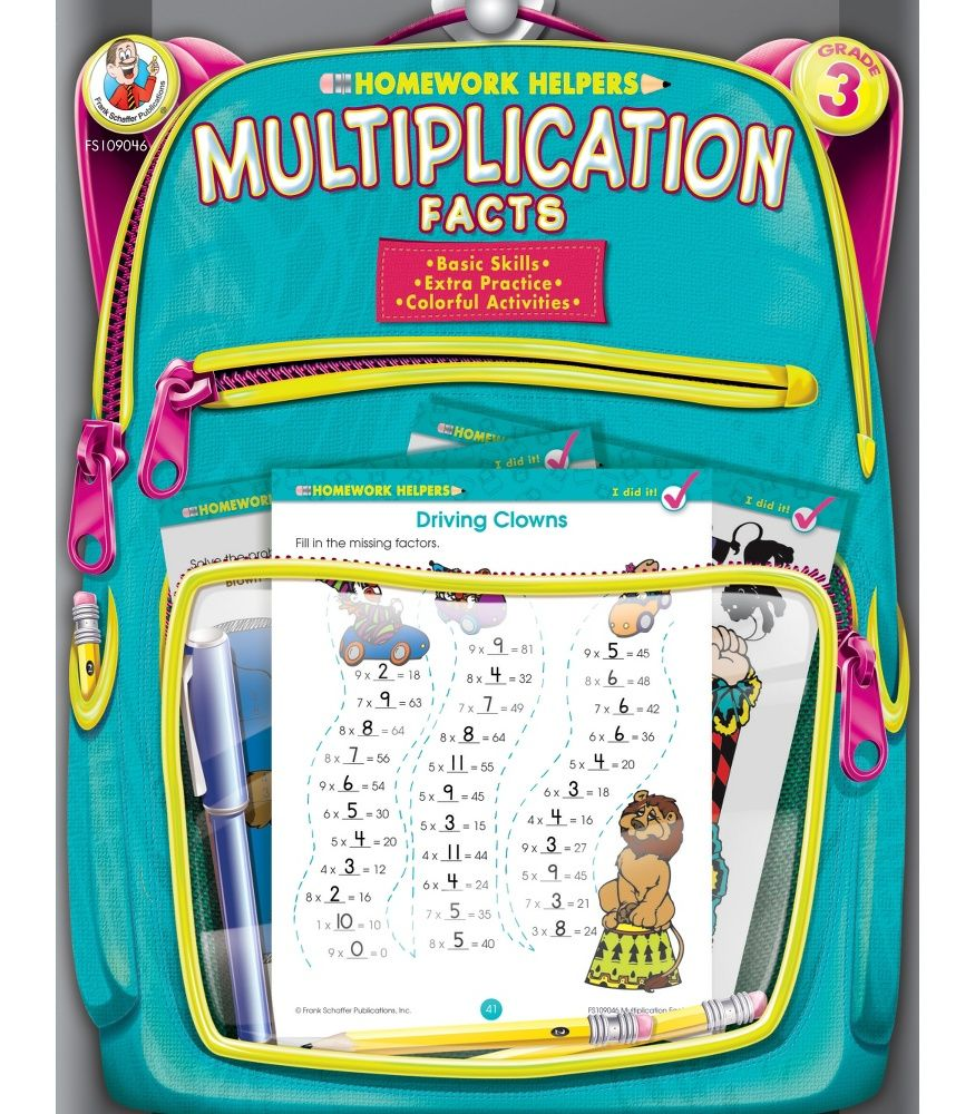 Multiplication Facts Homework Helper provides children in third ...