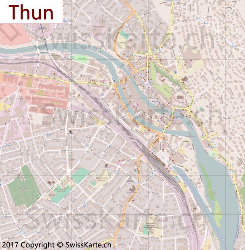 Karte Thun Schone Orte Karten Planer