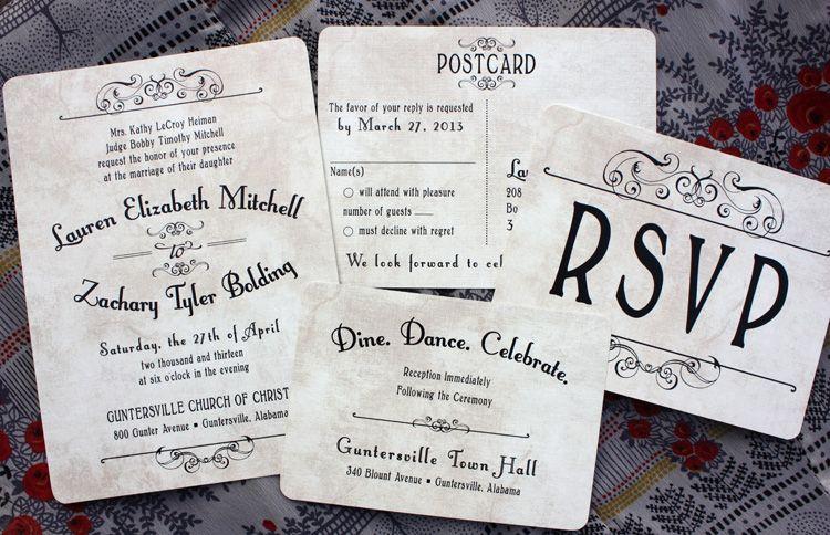 Antique Background Vintage Steampunk Poster Style Wedding