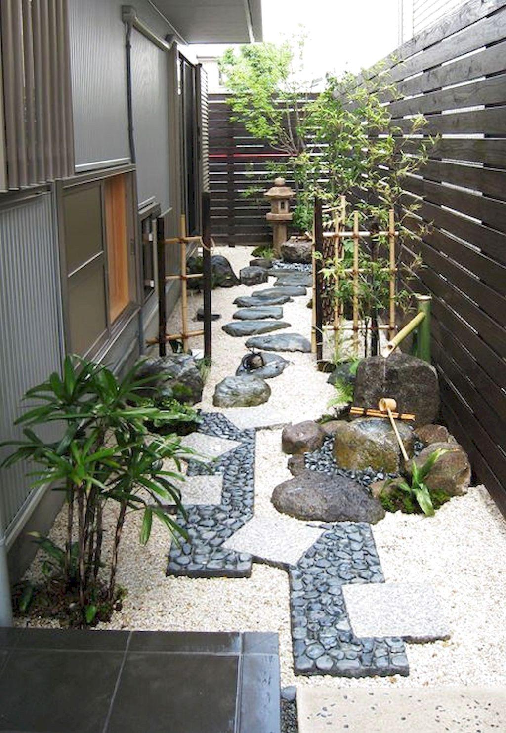80 Favourite Side House Garden Landscaping Decoration Ideas With Rocks In 2020 Japanese Garden Design Zen Garden Design Japanese Garden