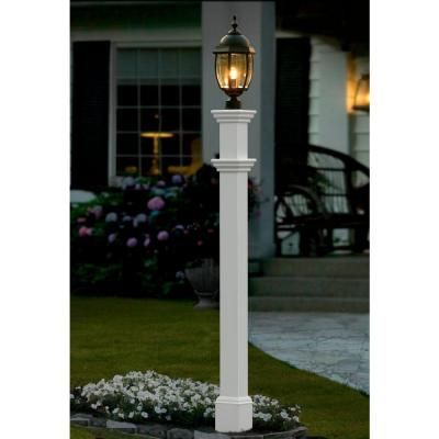 Nice Vinyl Portsmouth Lamp Post VA94430   The Home Depot