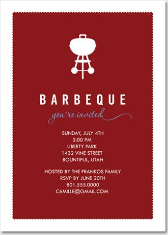 bbq invite cute for a birthday party couples shower housewarming