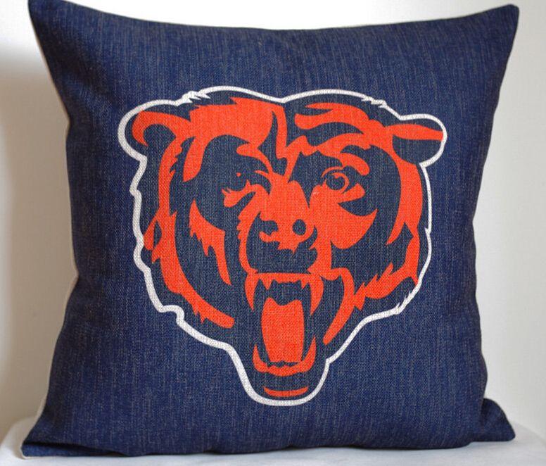 Nfl Chicago Bears Pillow Cover Team Logo Nfl Chicago Bears Throw