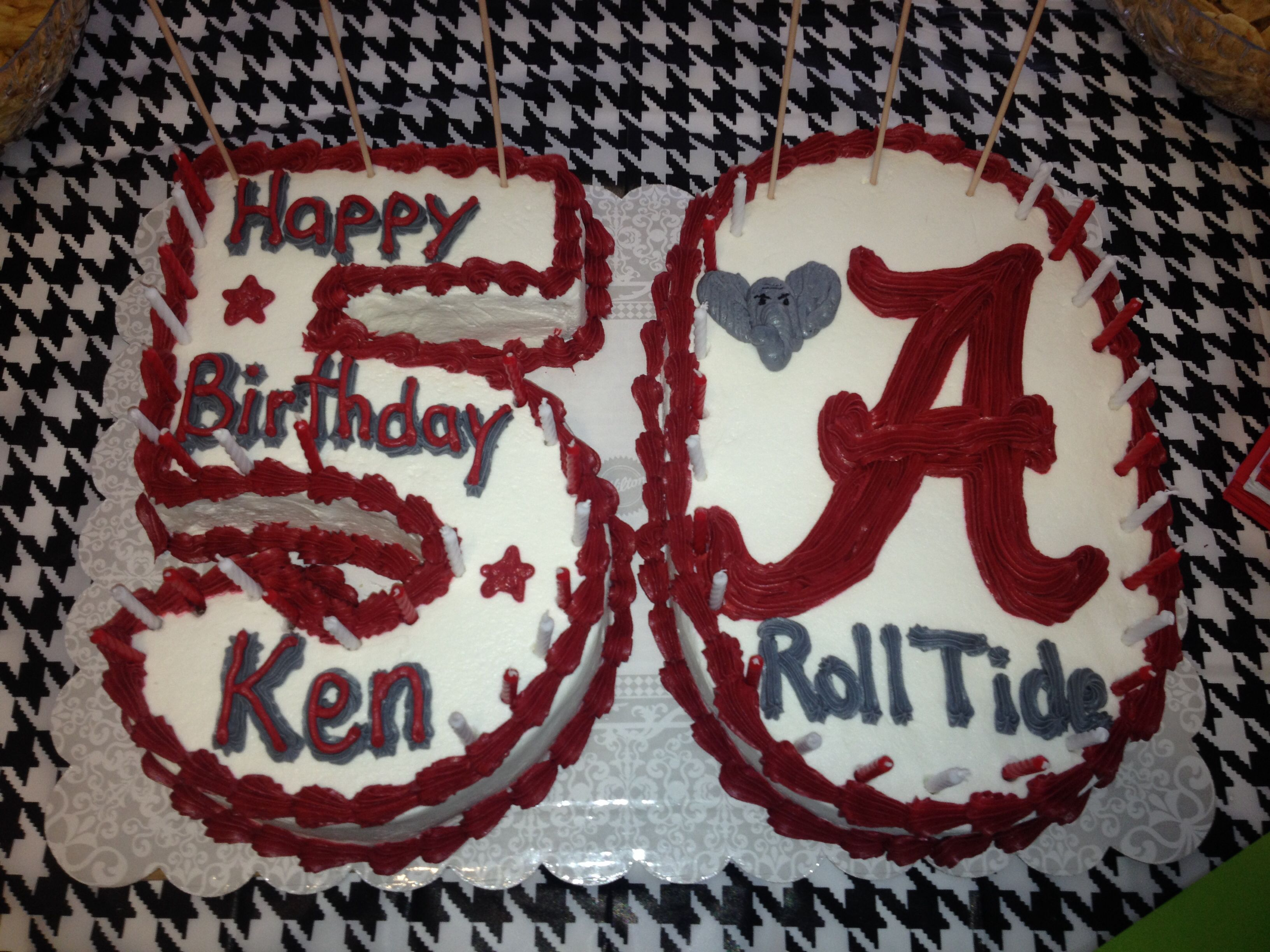 50 Birthday Cake Alabama Theme Roll Tide Just Ideas Pinterest