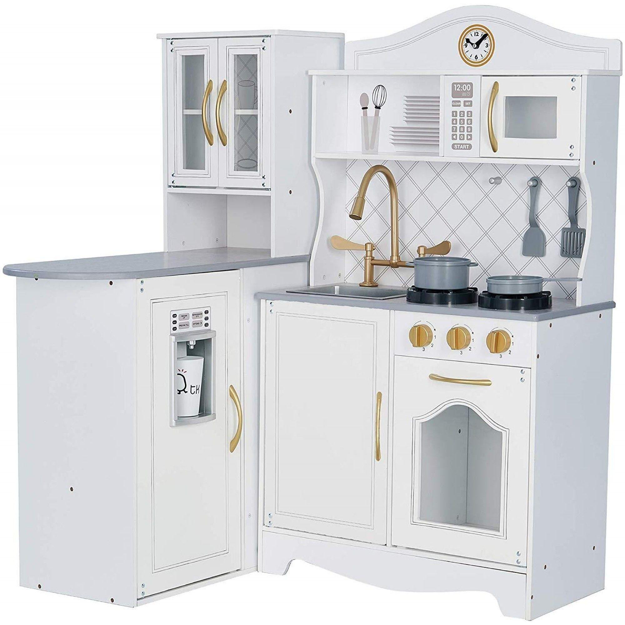Teamson Kids Little Chef Marseille Retro Play Kitchen White In 2020 Play Kitchen White Kitchen Kitchen