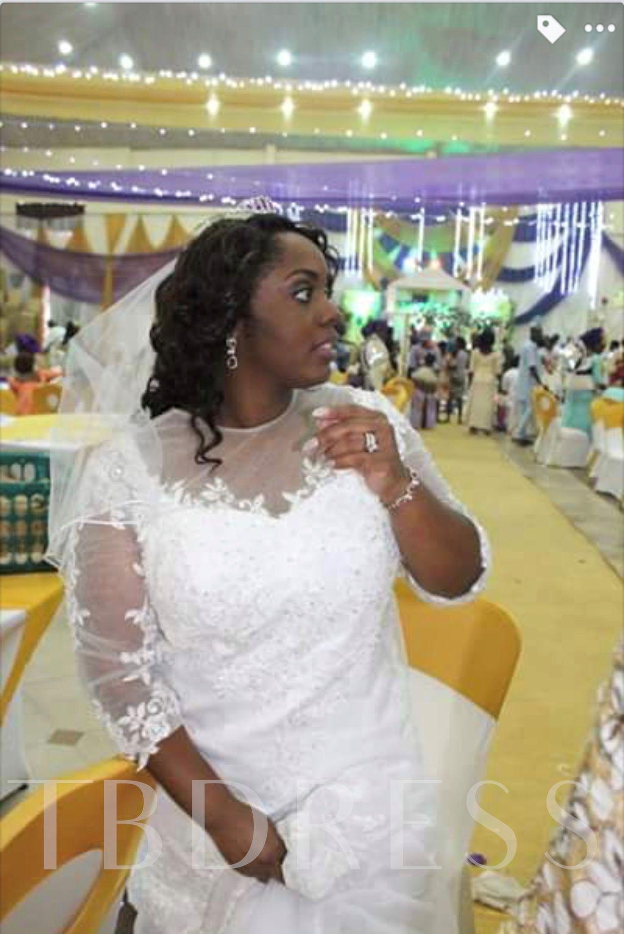 3 4 Length Sleeves Appliques Mermaid Plus Size Wedding Dress Wedding Dresses Plus Size Wedding Wedding Dresses Lace [ 1857 x 1242 Pixel ]
