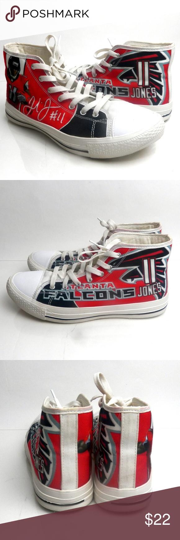 Atlanta Falcons Julio Jones Canvas Shoes Canvas Shoes Atlanta Falcons Shoes