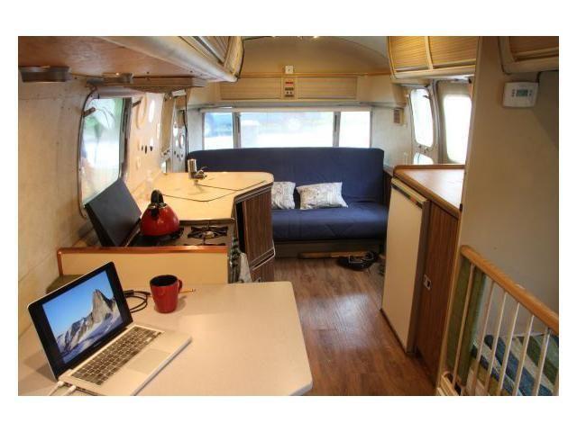 Interior Shot Modernized 25 Airstream Land Yacht For Sale In Seattle Wa