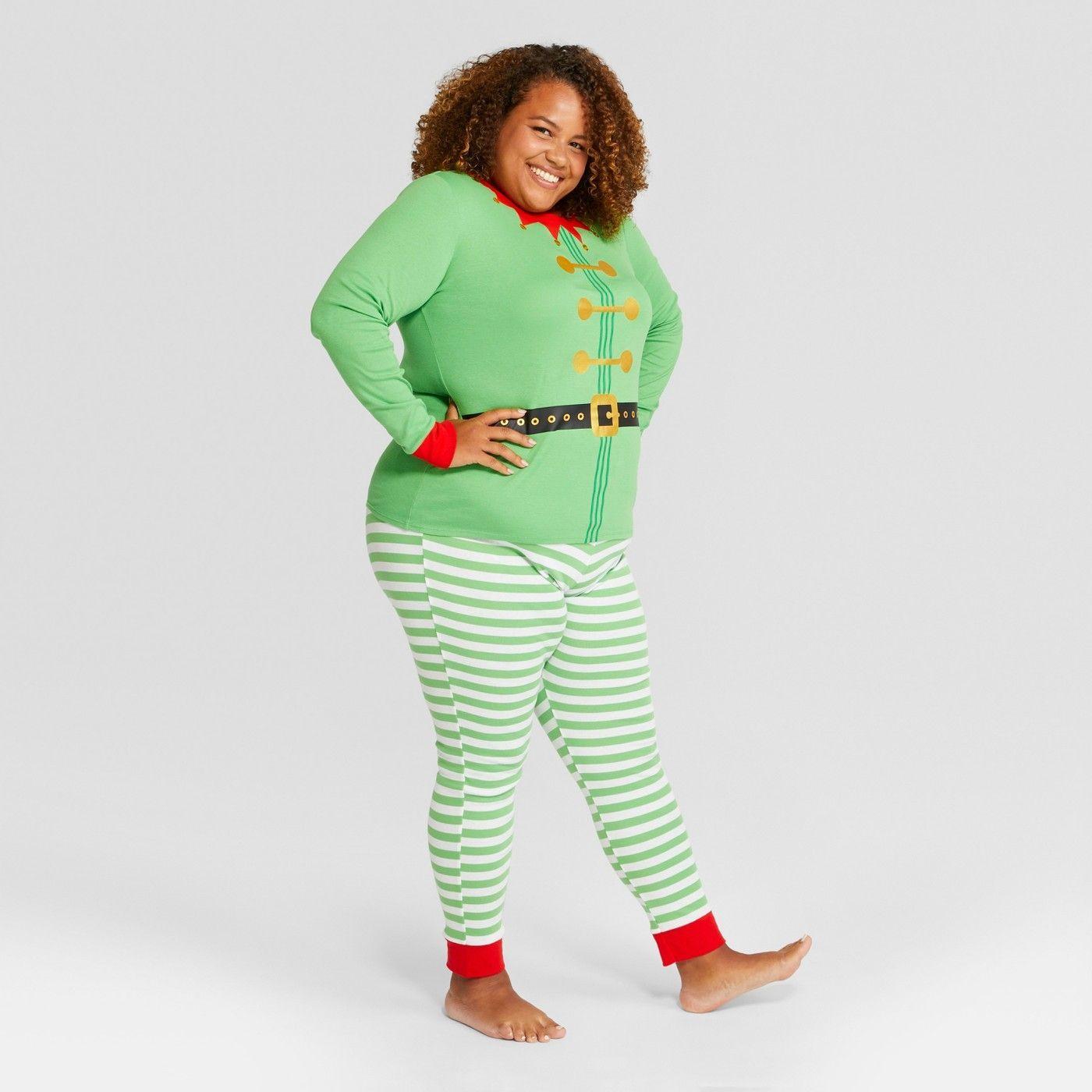 Women's Plus Size Holiday Elf Pajama Set at Target SALE