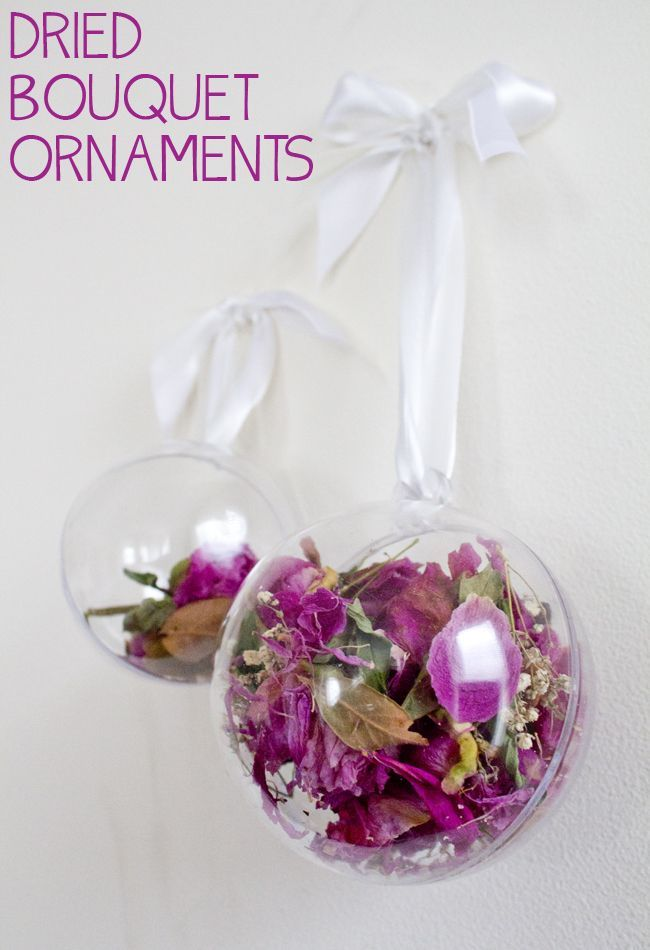 Dried Bouquet Ornaments-- perfect for dried wedding flowers. What to ...