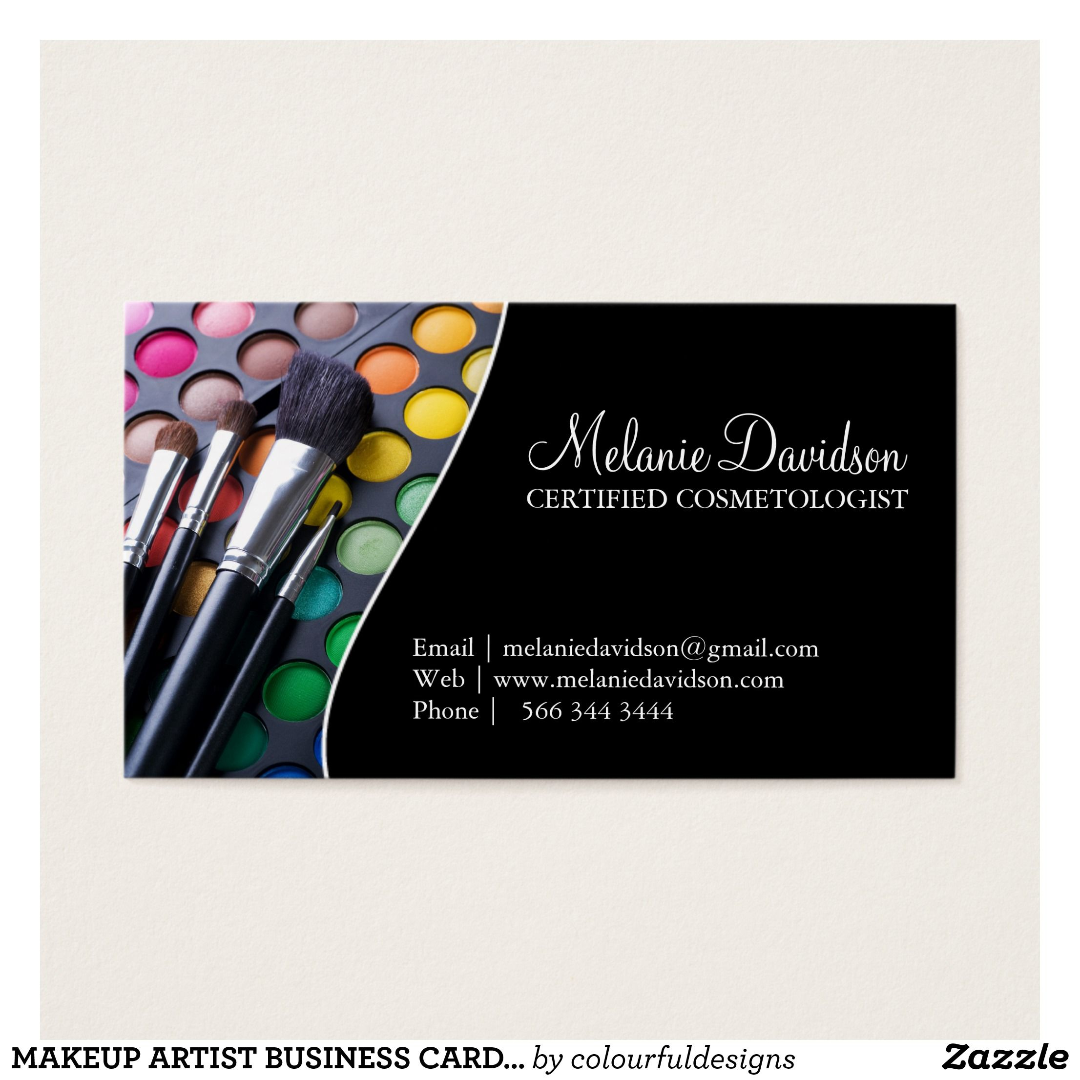 Makeup Artist Business Card Template Zazzle Com Makeup Artist Business Cards Templates Makeup Artist Business Cards Makeup Business Cards