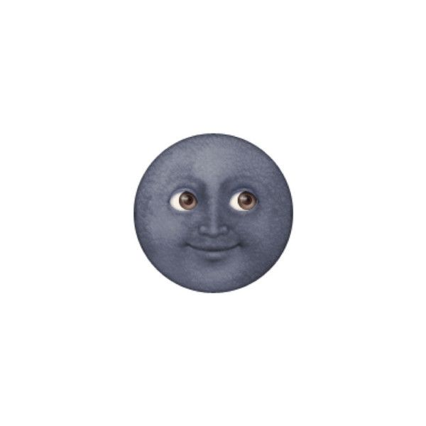 New Moon With Face Liked On Polyvore Featuring Filler Moon Emoji Emoji Stickers Emoji