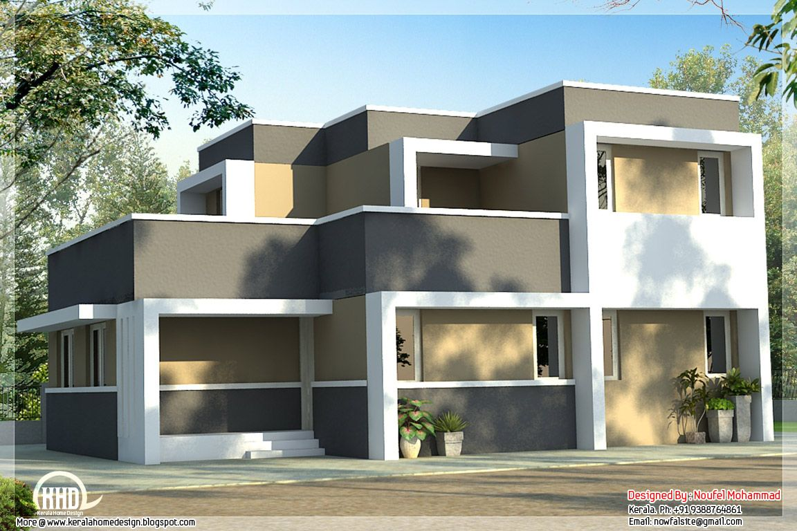 economical box type house kerela homes pinterest