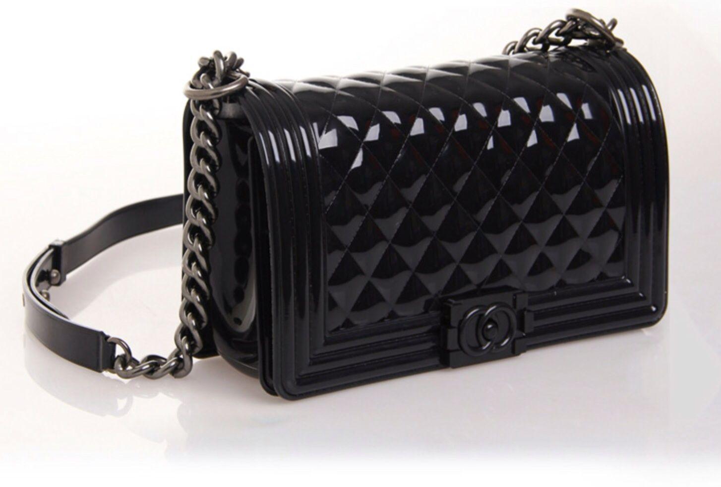 fd1887f5854250 Black Le Boy Jelly Bag | Le Boy Jelly Bag | Jelly bag, Bags, Chanel ...