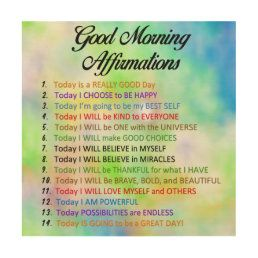 14 Good Morning Affirmations - Positive Thinking Poster   Zazzle.com