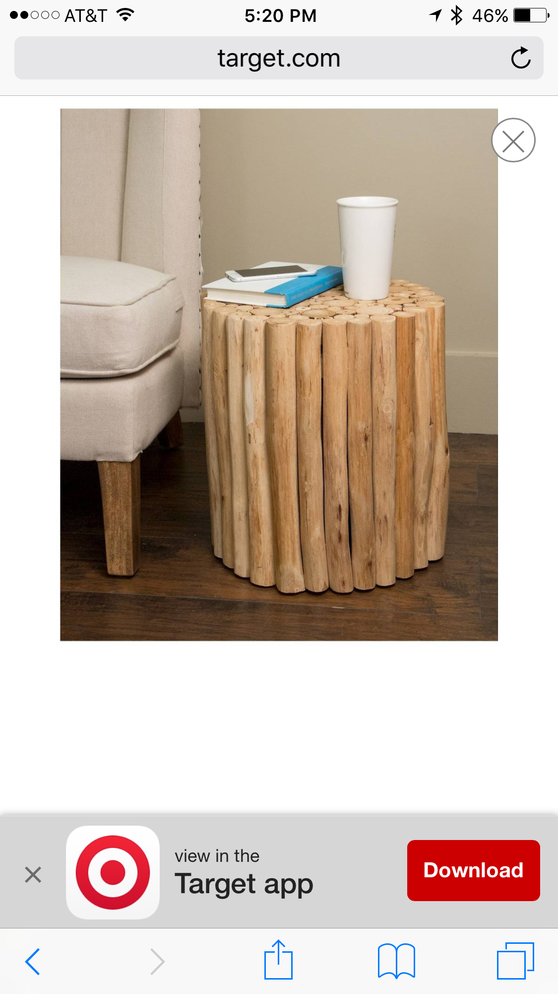 Pin By Roxanne Owens On Mill Creek Design Round Stool Side Table Rattan Side Table [ 2001 x 1125 Pixel ]