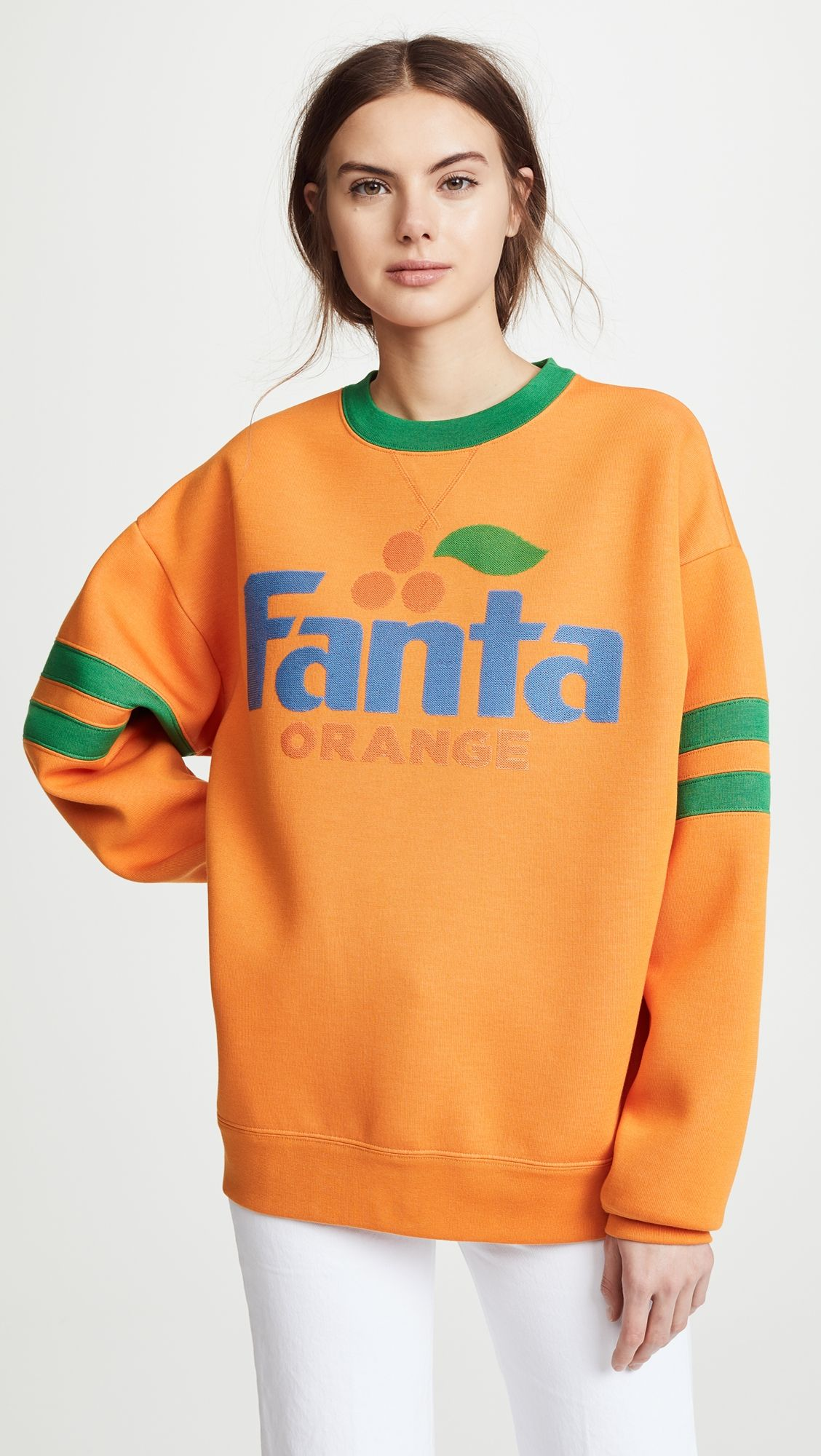 Marc Jacobs Fanta Sweatshirt With Long Sleeves Crew Neckline Women Hoodies Sweatshirts Sweatshirts Sweatshirts Women [ 2000 x 1128 Pixel ]
