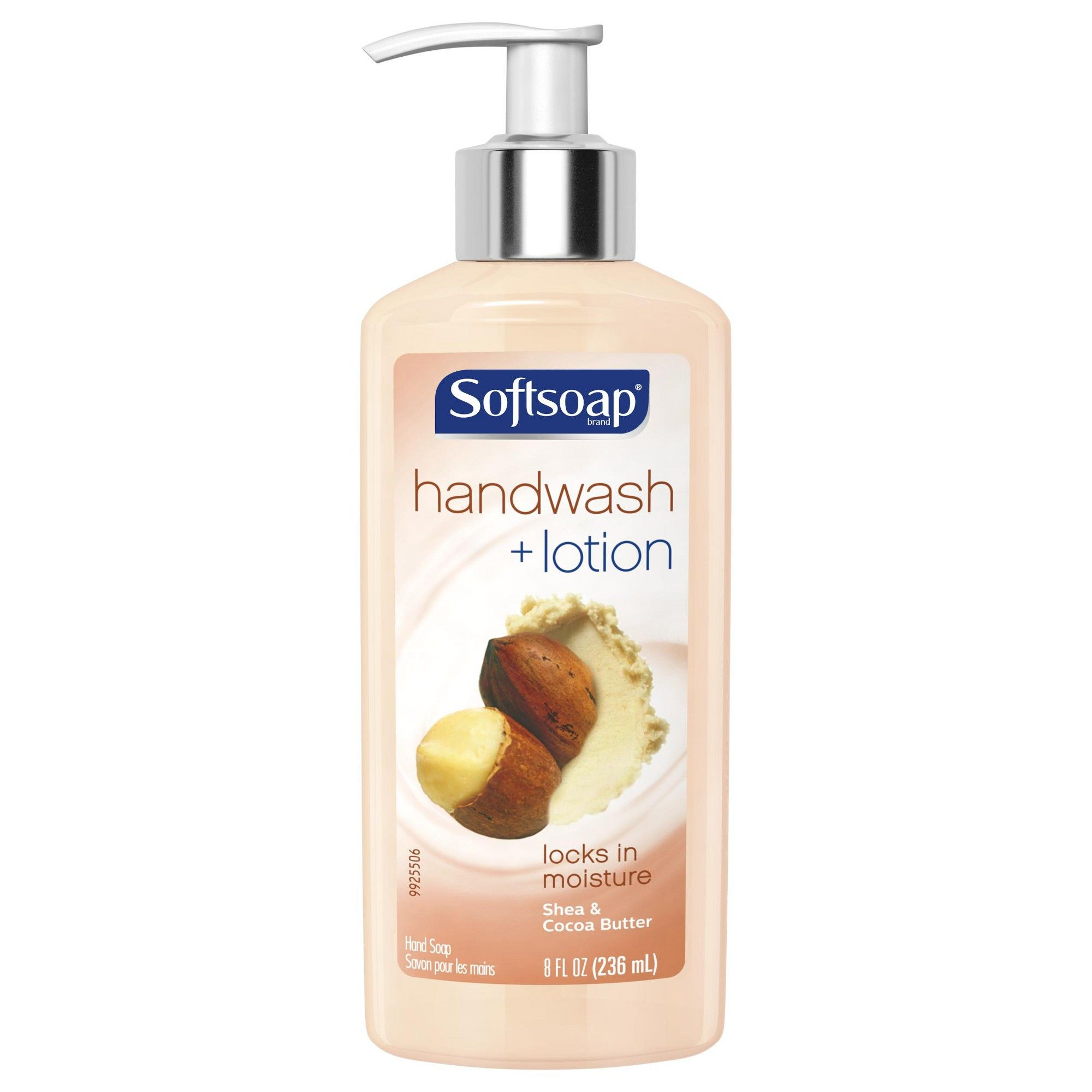 Softsoap Hand Wash Plus Lotion Pump Shea And Cocoa Butter 8 Fl