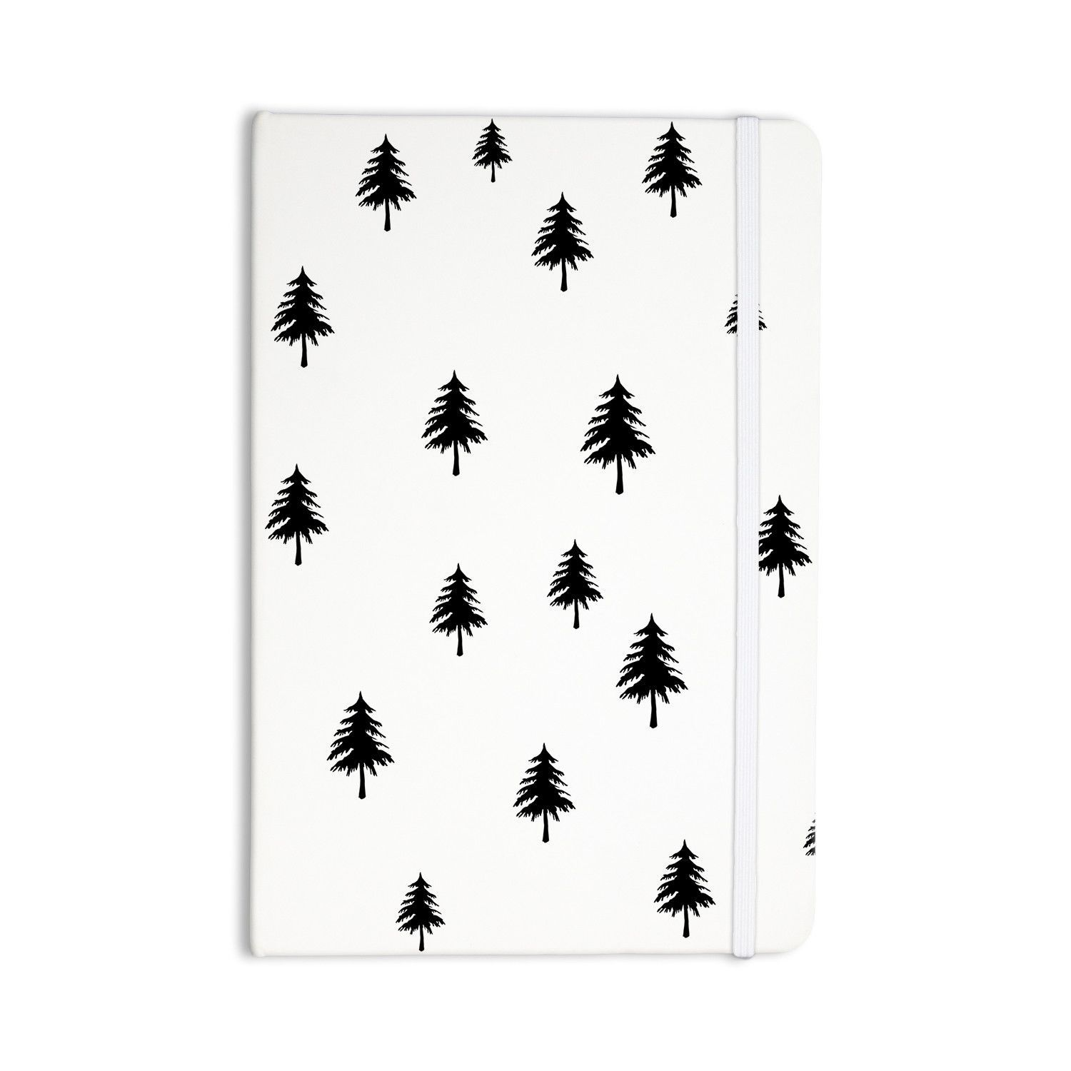 """Suzanne Carter """"Pine Tree"""" Black White Everything Notebook from KESS InHouse"""