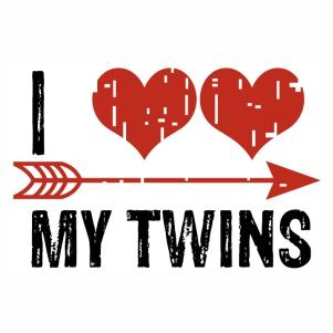 I Love My Twins Logo Svg Vector Logo My Love Vector File