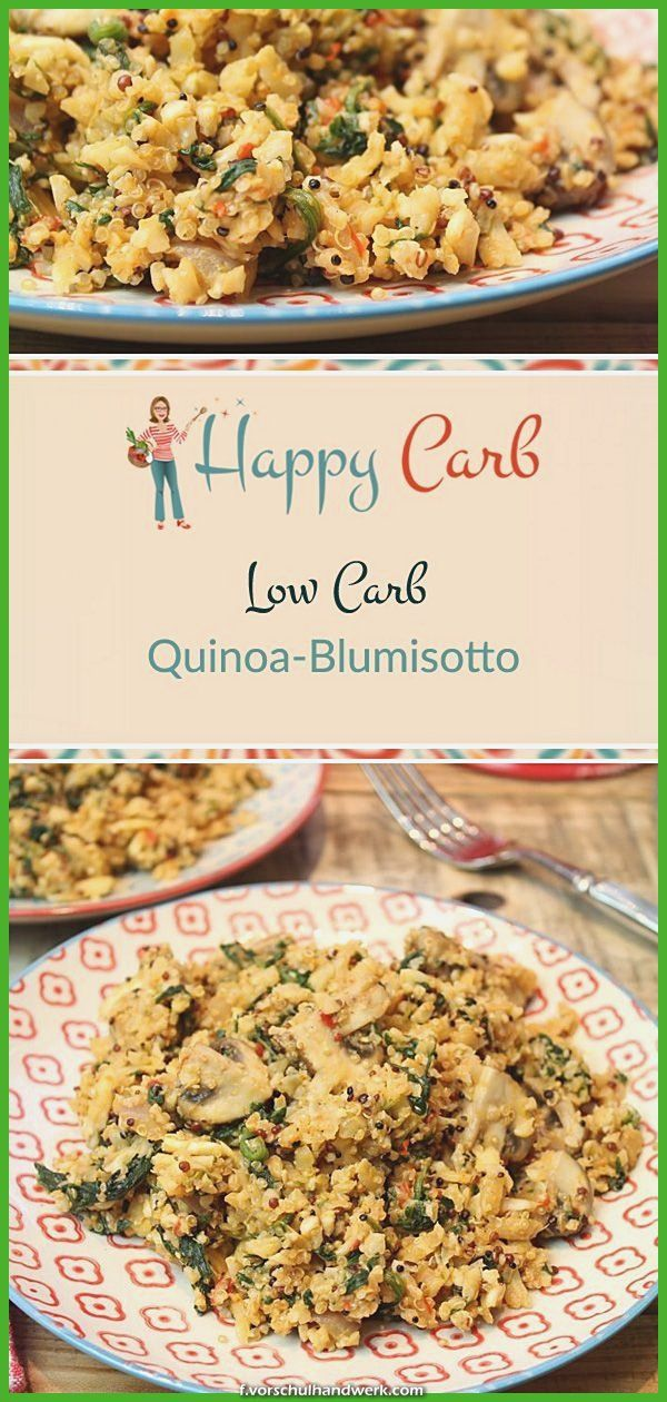 Unglaubliche Quinoa Ist Eine Blumisotto - Happy, Low Carb Rezepte Quinoa Ist Eine Blumisotto. Veggi