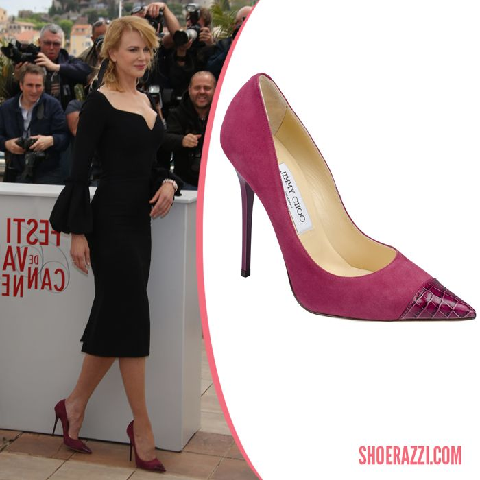 ae101e5a4ce Nicole Kidman in Jimmy Choo Award Pumps - ShoeRazzi | non-platform ...