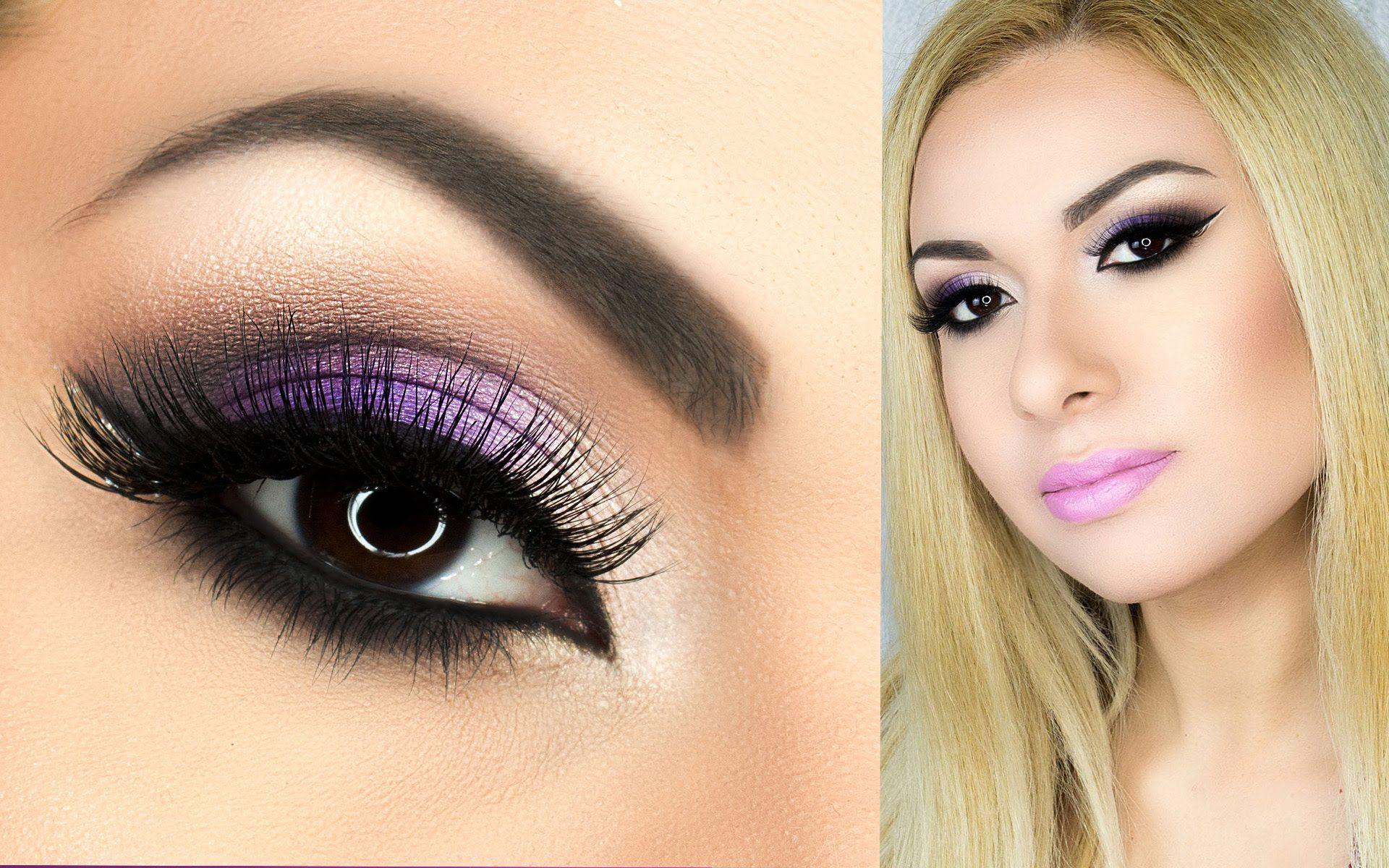 Pin by maggi rivera on hair and makeup pinterest purple dress make up baditri Images