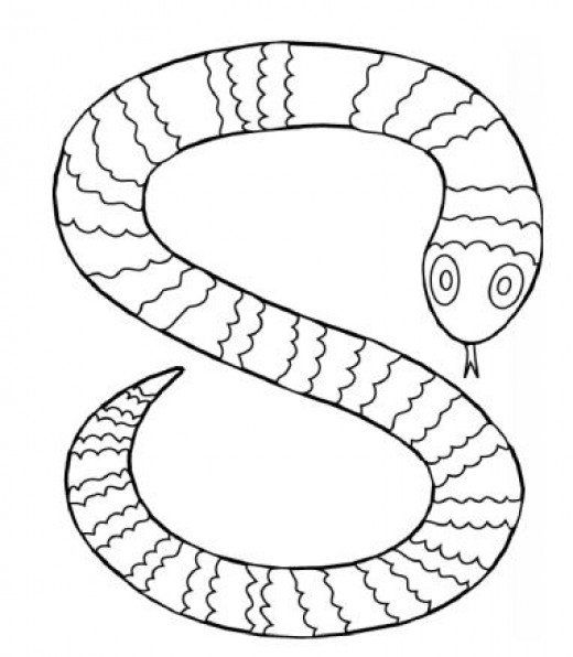 reptiles amphibians coloring pages - Coloring Page Snake