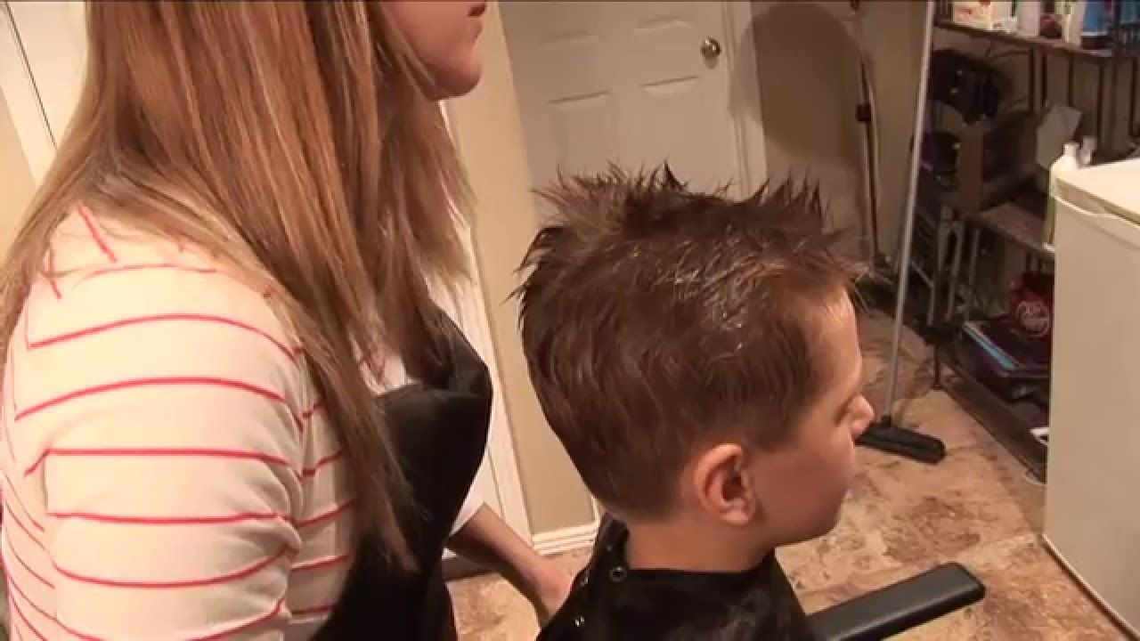 5 year old boy long hair how to cut boyus hair  basic boys haircut  hair tutorial