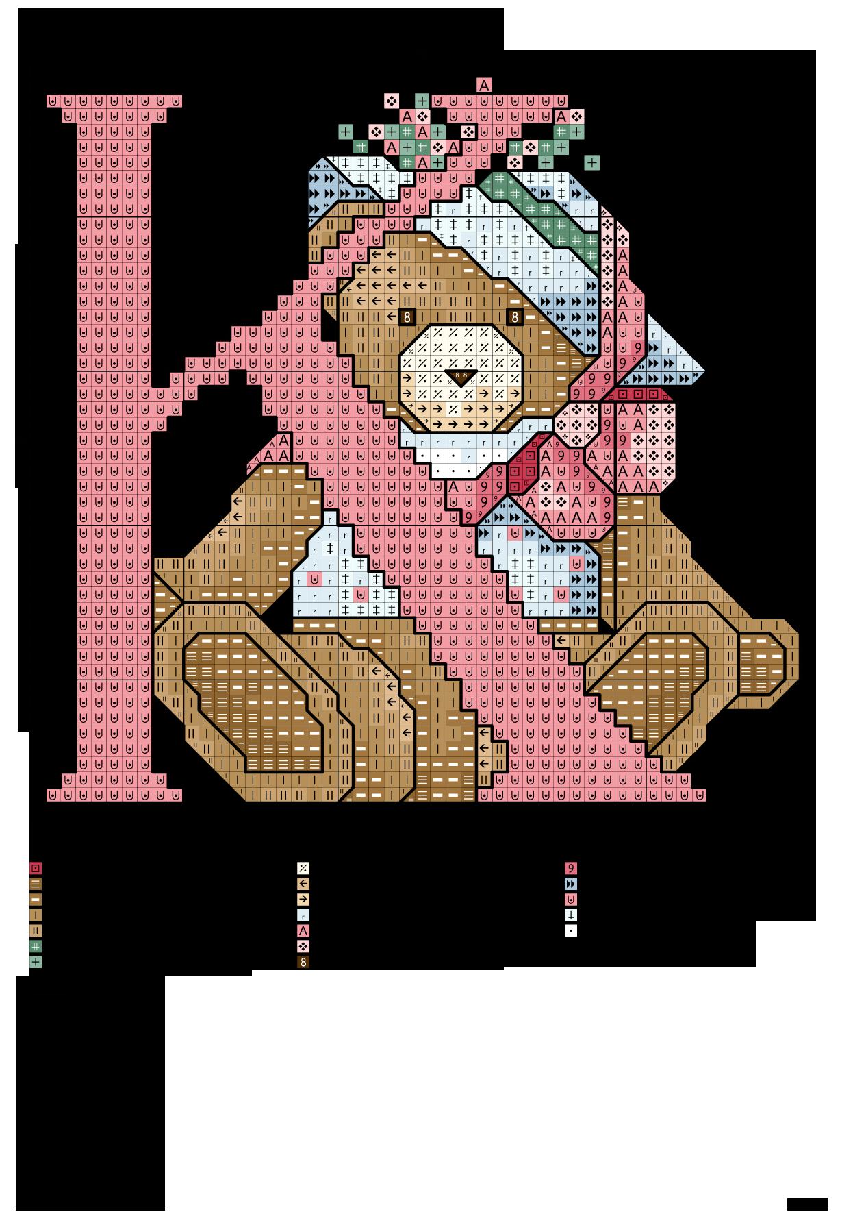Alfabeto degli orsacchiotti k alfabeti a punto croce for Ricamo punto croce lettere