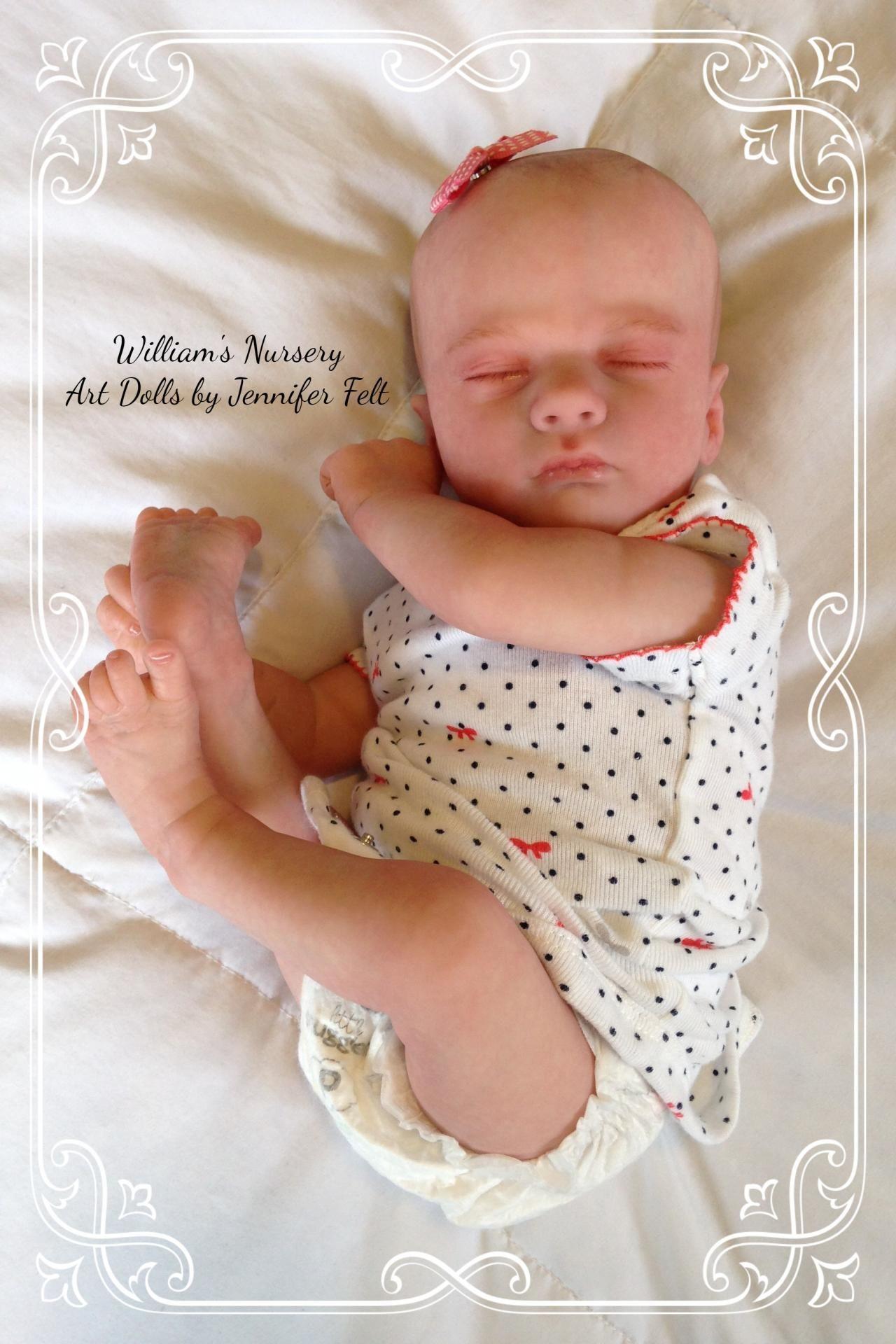 """17/"""" Reborn Doll Parts Kit DIY Realborn® Ashley Sleeping"""