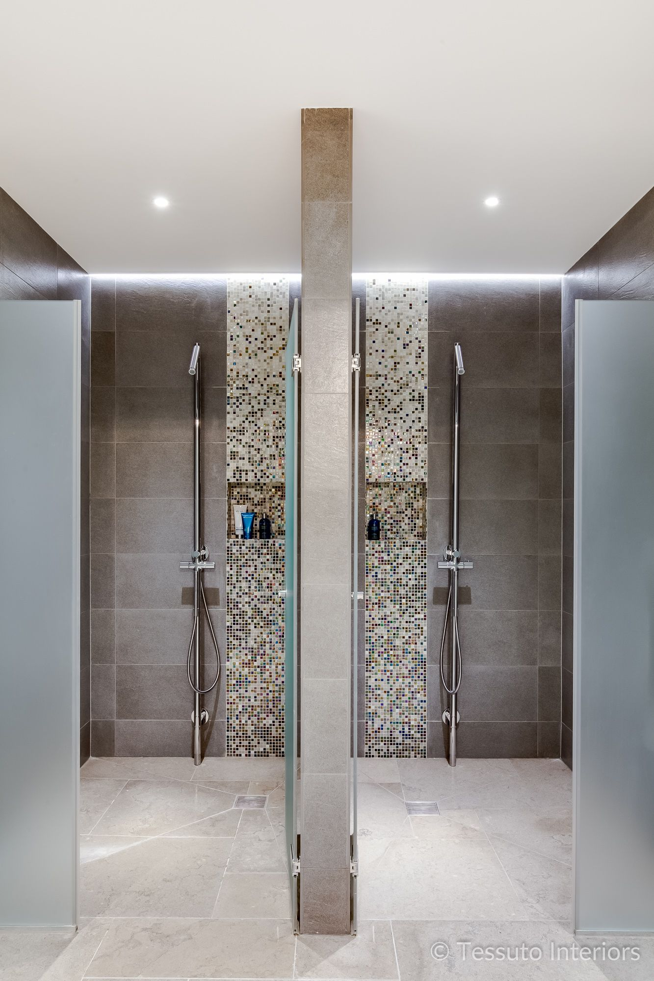 Tessuto Interiors Luxury Contemporary Swimming Pool Shower Room ...