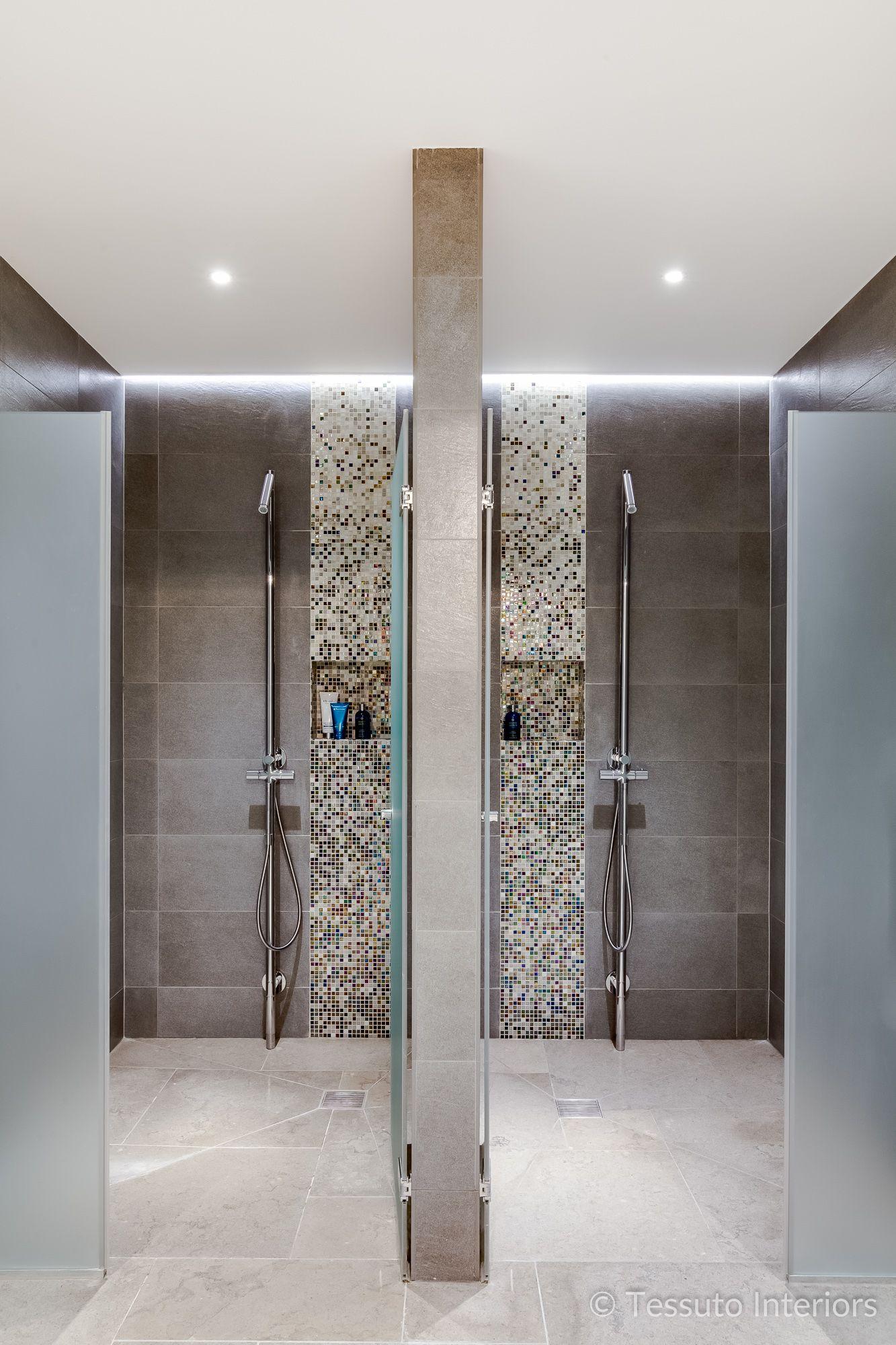 Tessuto Interiors Luxury Contemporary Swimming Pool Shower ...