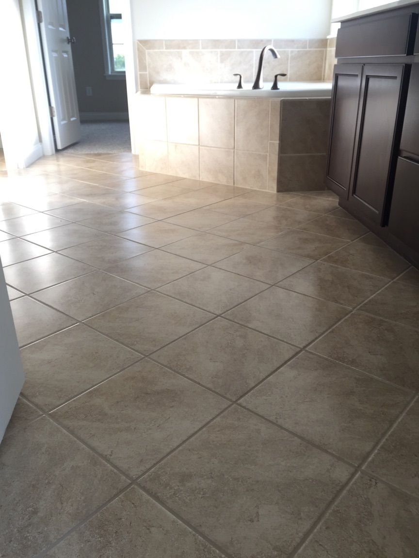 Cannes 12x12 Noce Floor Tile Installed Diamond Pattern Tile Floor Flooring New Homes